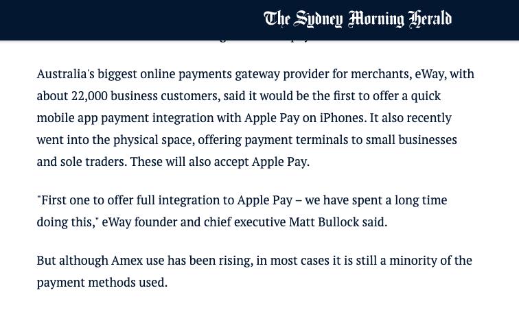 Sydney Morning Herald Snippet